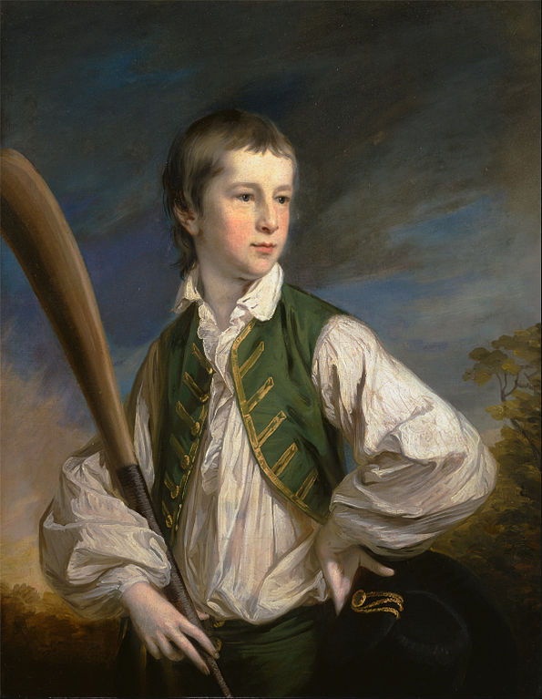 Charles Collyer as a Boy, with a Cricket Bat
