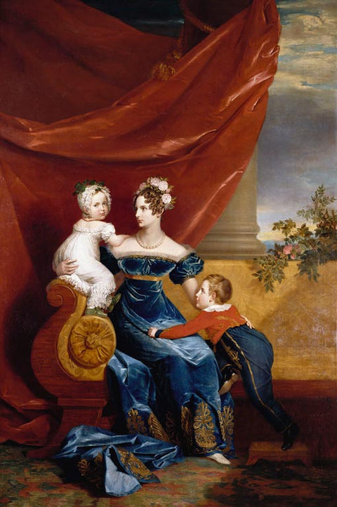 Charlotte - Empress of Russia with Her Eldest Children Alexander and Maria