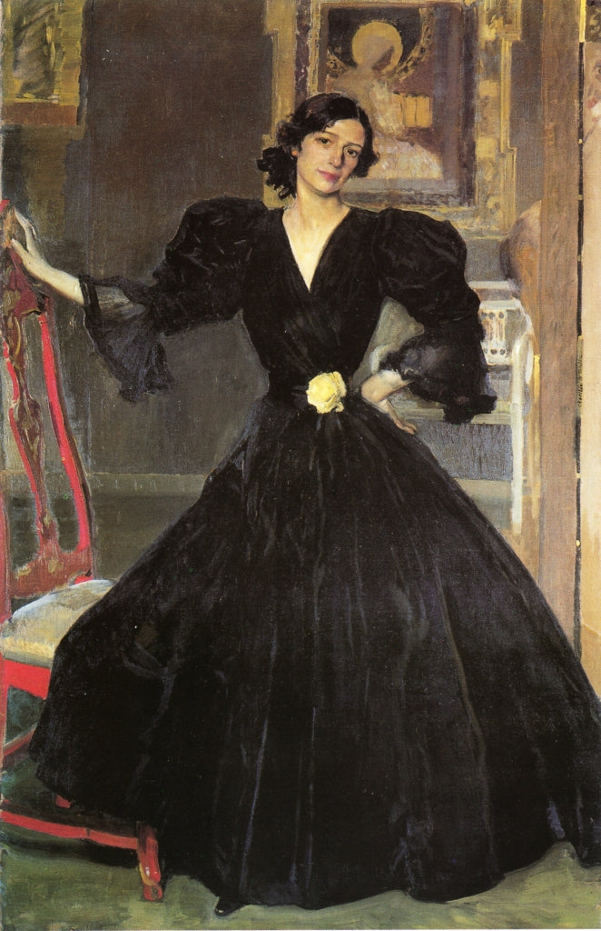 Clotilde in a Black Dress