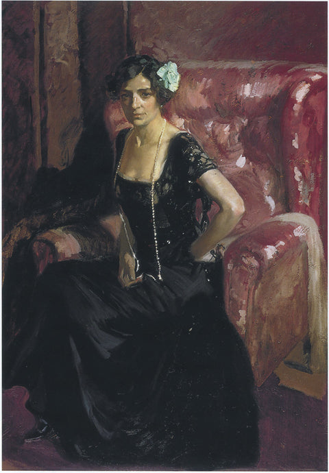 Clotilde in an Evening Dress
