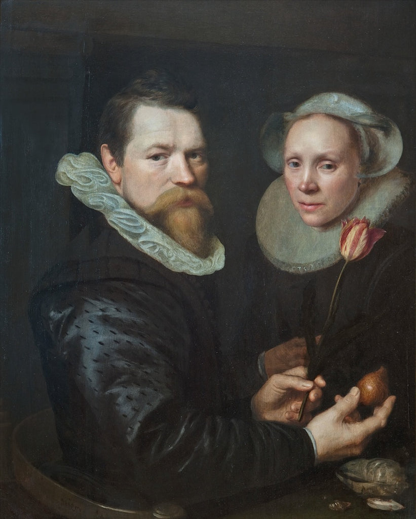 Double Portrait of a Husband and Wife with Tulip, Bulb, and Shells