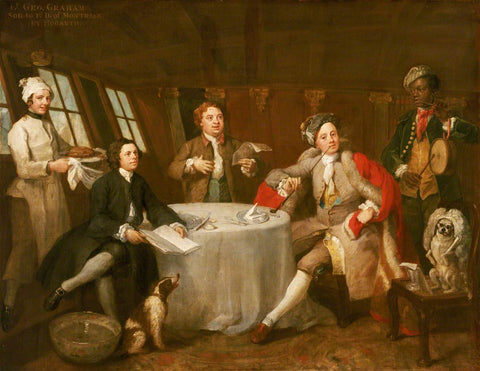 Captain Lord George Graham & friends enjoying a little song in his cabin in 1745