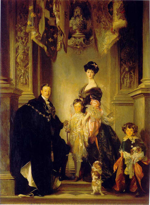 Duke Marlborough Singer Sargent and Family