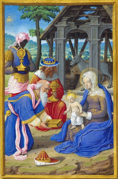 The Hours of Henry VIII Fol 61v: Adoration of the Magi
