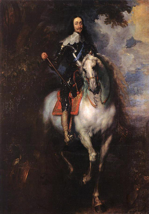 Equestrian Portrait of Charles I, King of England with Seignior de St Antoine