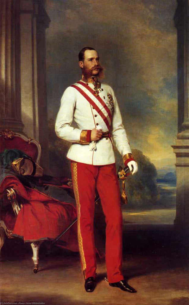 Franz Joseph I, Emperor of Austria wearing the dress uniform of an Austrian Field Marshal with the Great Star of the Military Order of Maria Theresa
