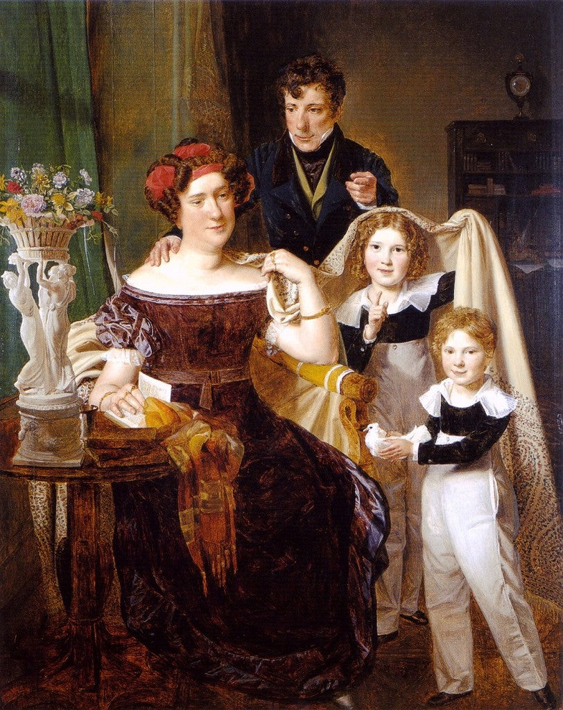 Freiherr von Odkolek with his wife and two sons