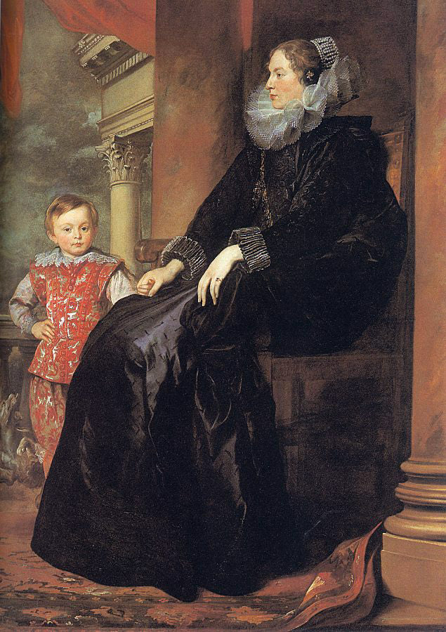 Genoese Noblewoman with her Son