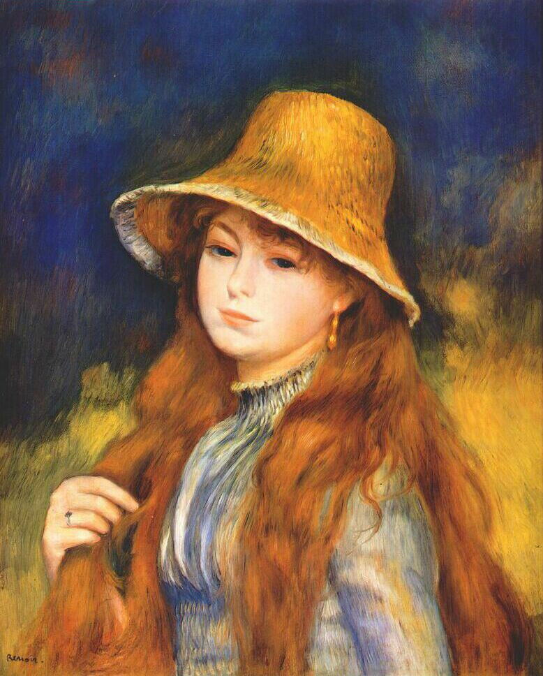 Girl with a straw hat