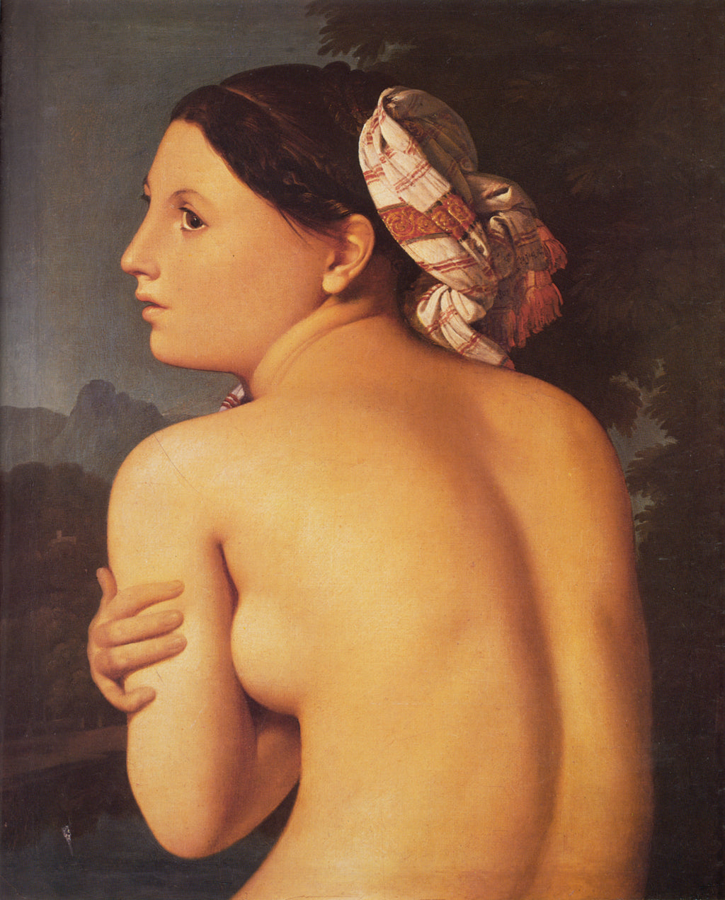 Half-figure of a Bather