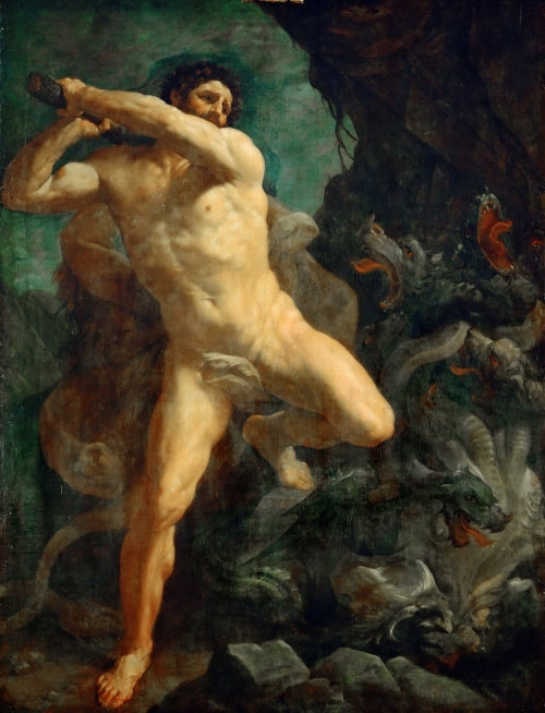 Hercules Killing Hydra of Lerna