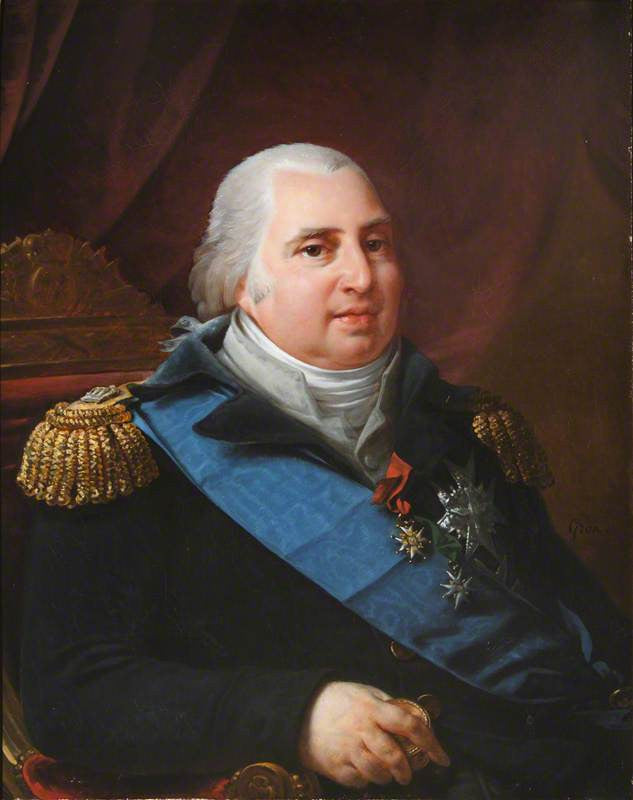 Louis XVIII -  King of France with the Ribbon of the Order of the Saint-Esprit