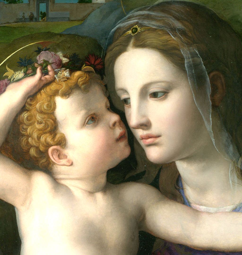 Madonna and Child with Saints (detail)