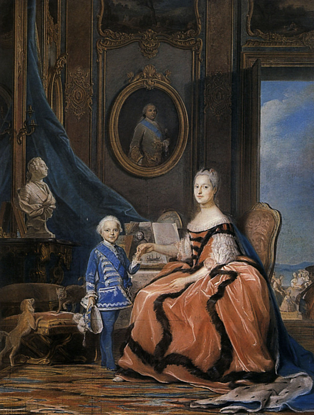 Marie Josephe of Saxony, Dauphine and a son