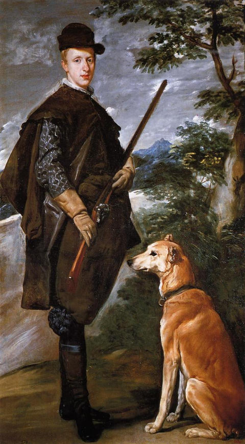 Portrait of Cardinal Infante Ferdinand of Austria with Gun and Dog