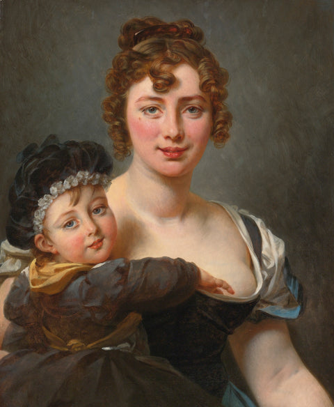 Portrait of Francoise Simonnier and her Daughter