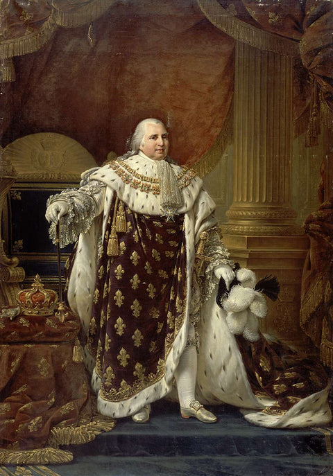 Portrait of Louis XVIII in His Coronation Robes