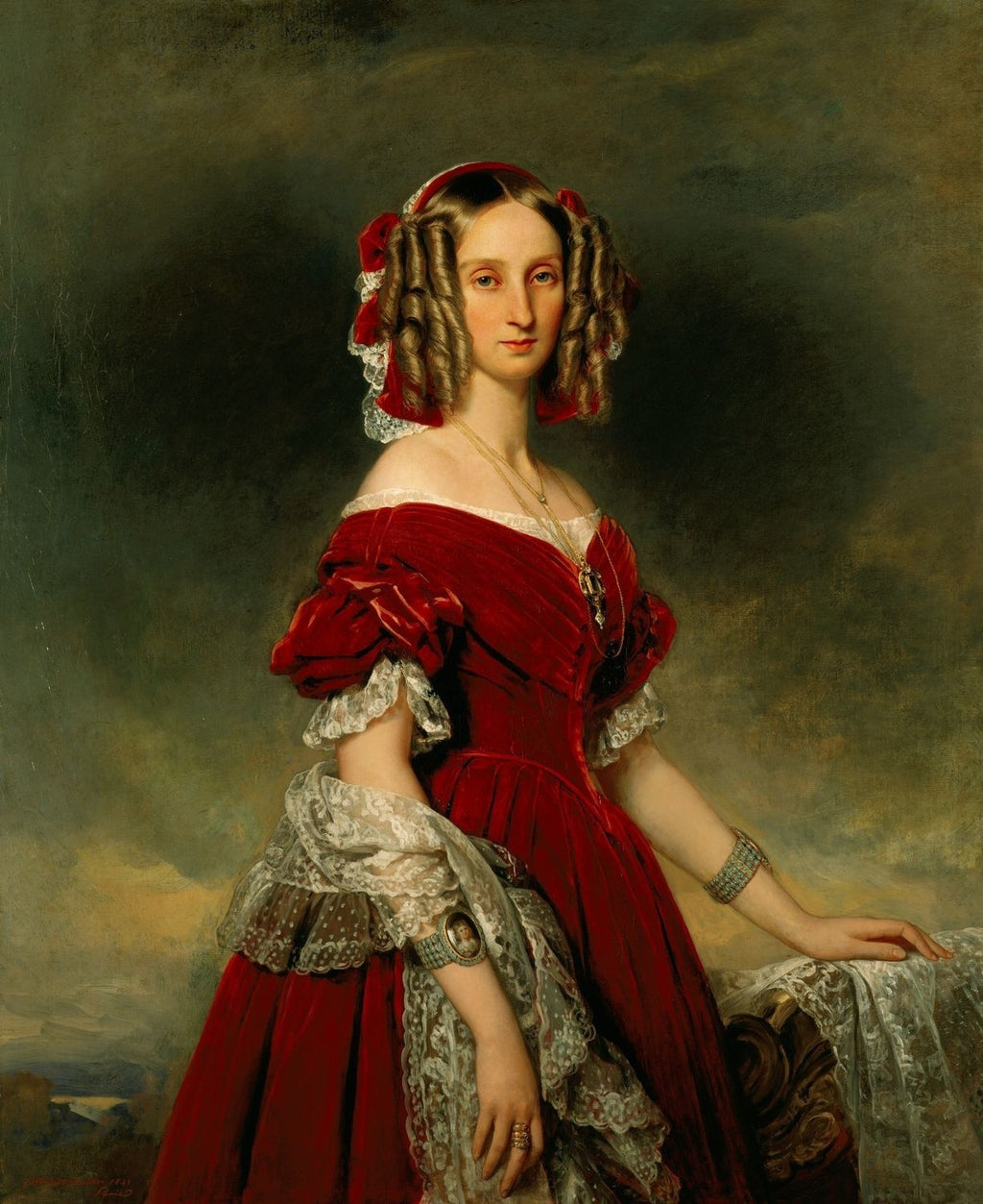 Portrait of Louises von Orléans