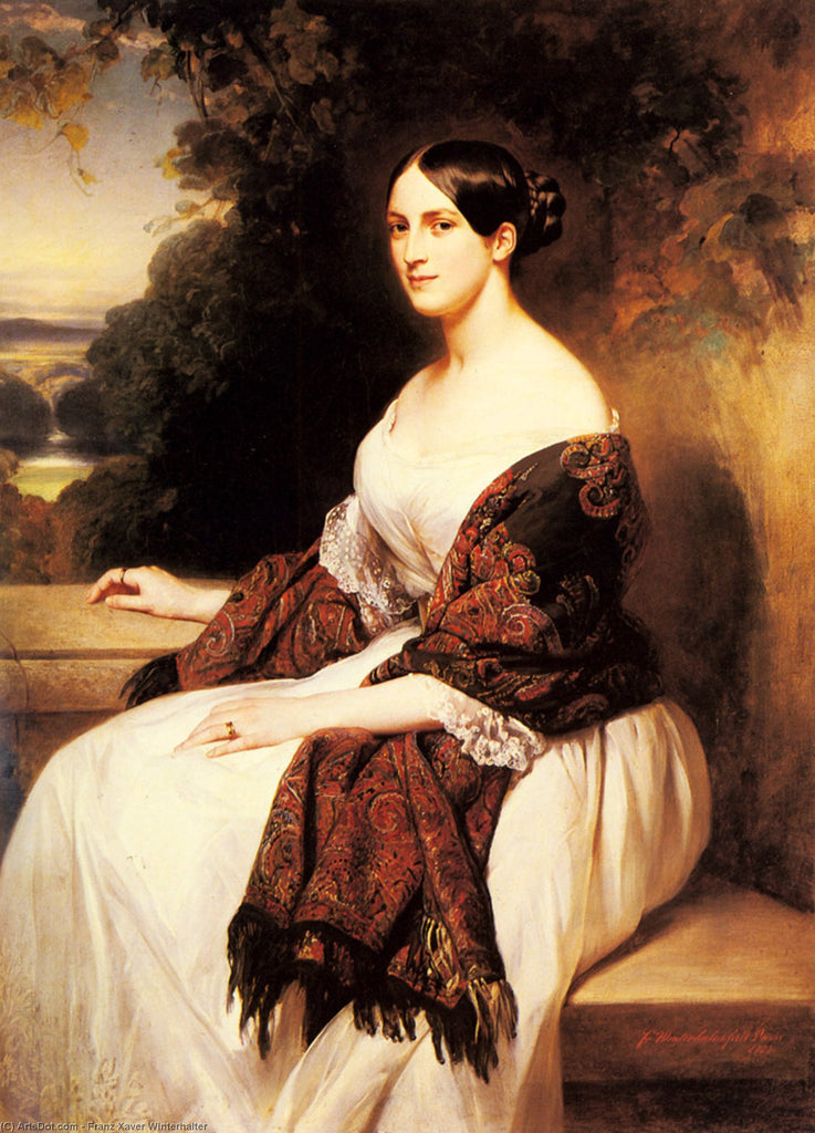 Portrait of Madame Ackerman, the wife of the Chief Finance Minister