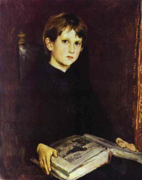 Portrait of Michael Vasnetsov, the Artist`s Son