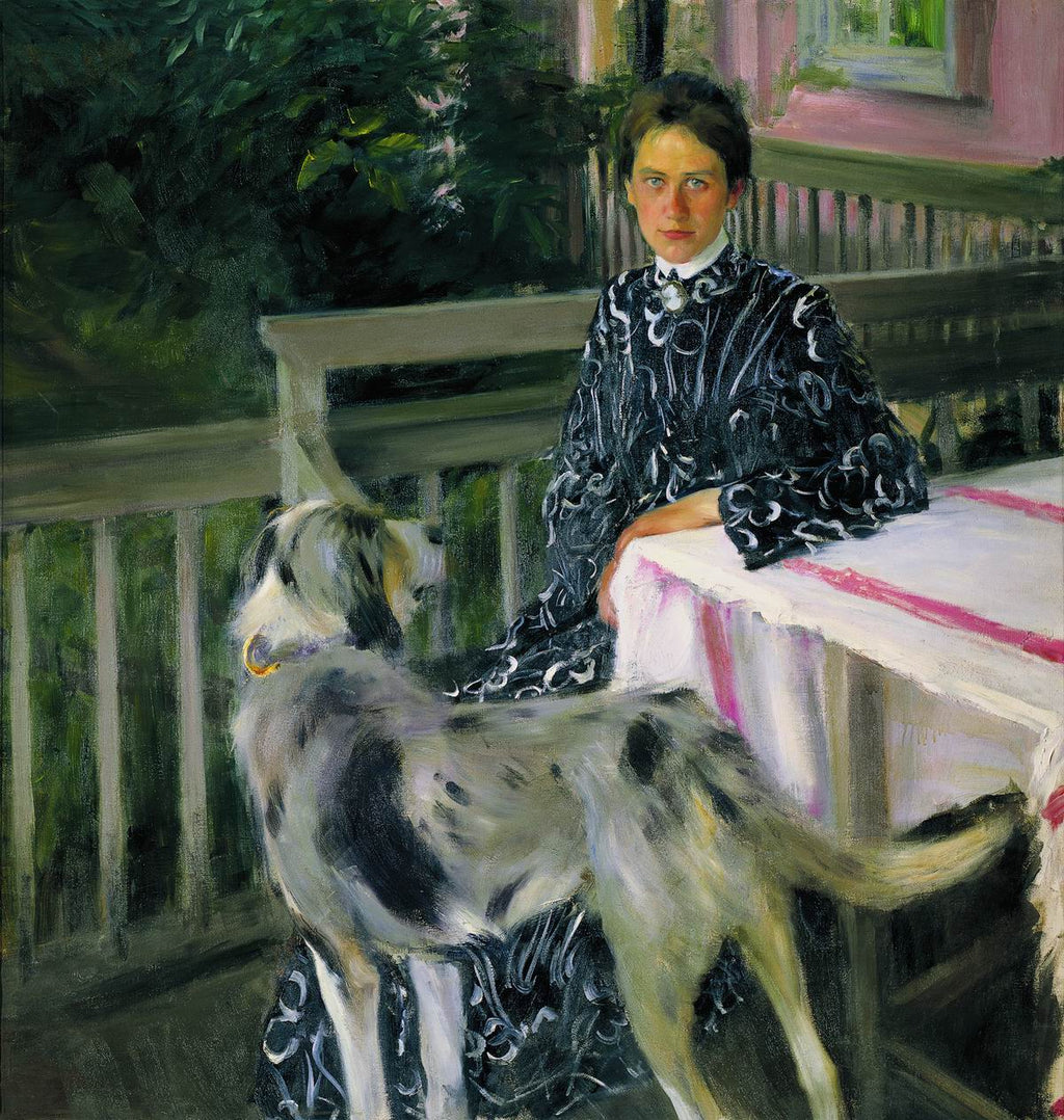 Portrait of Yulia Yevstafievna Kustodieva, the artist's wife
