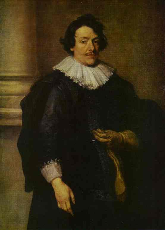 Portrait of a Gentleman Dressed in Black, in Front of a Pillar