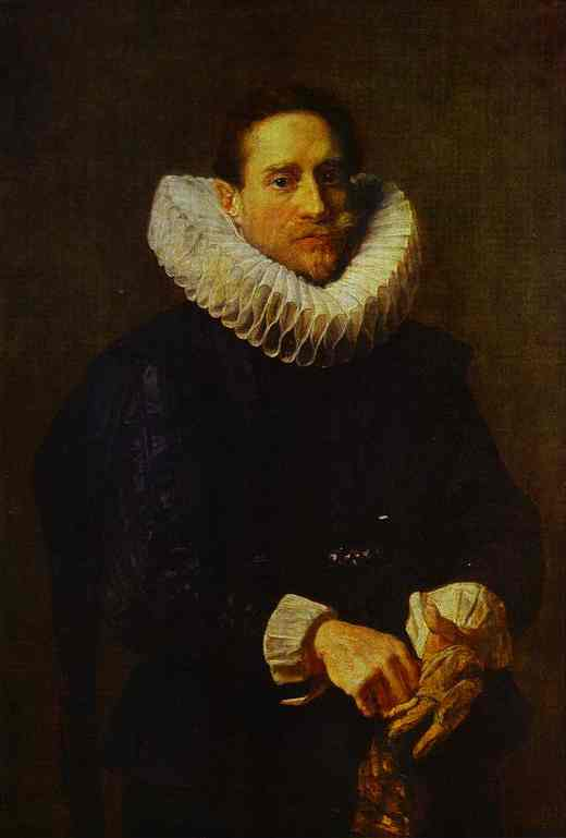 Portrait of a Gentleman, Putting on his Gloves
