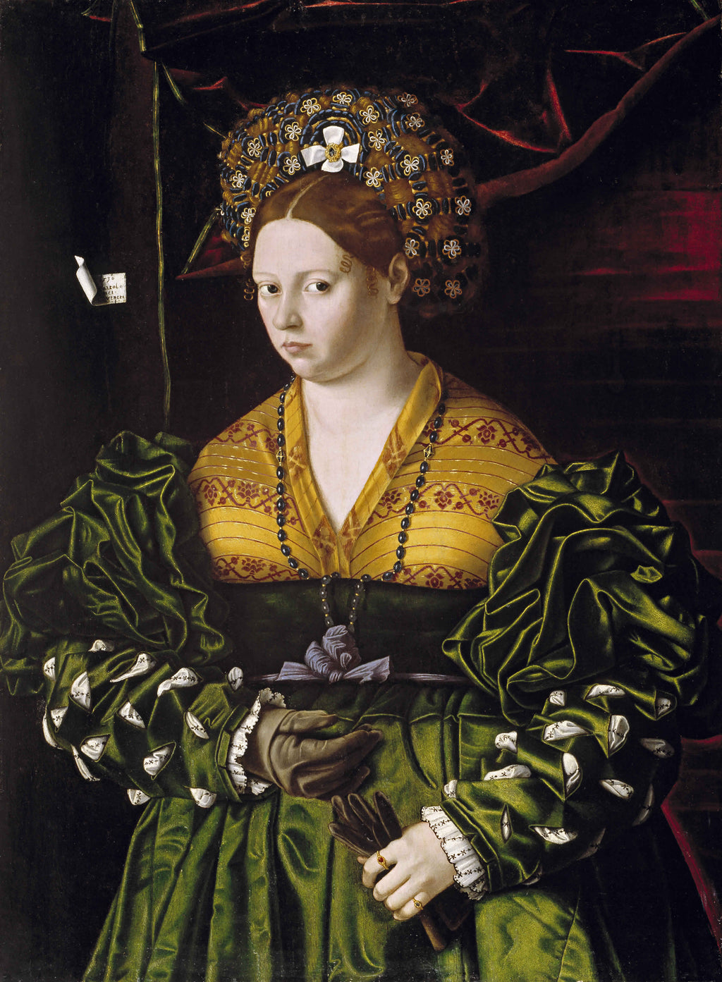Portrait of a Lady in a Green Dress