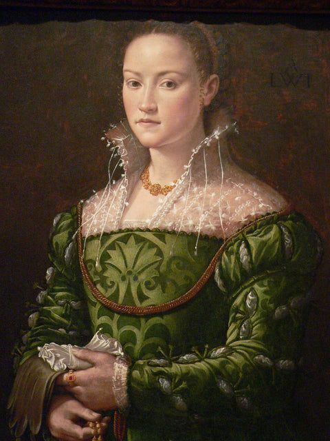 Portrait of a Lady in a Green Dress I
