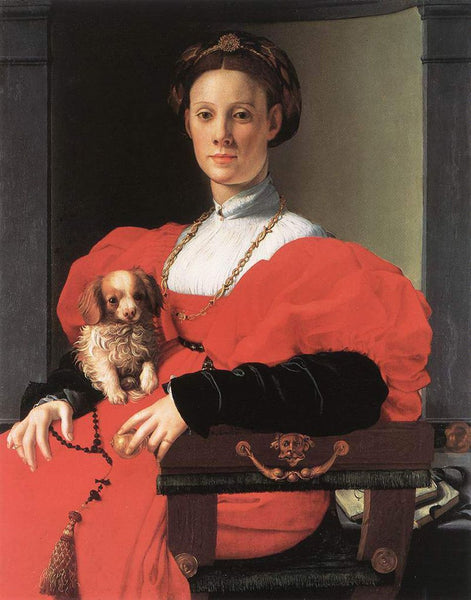 Portrait of a Lady with a Puppy