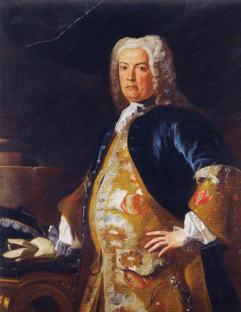 Portrait of a Nobleman leaning his Gloved Hand on a Console Table
