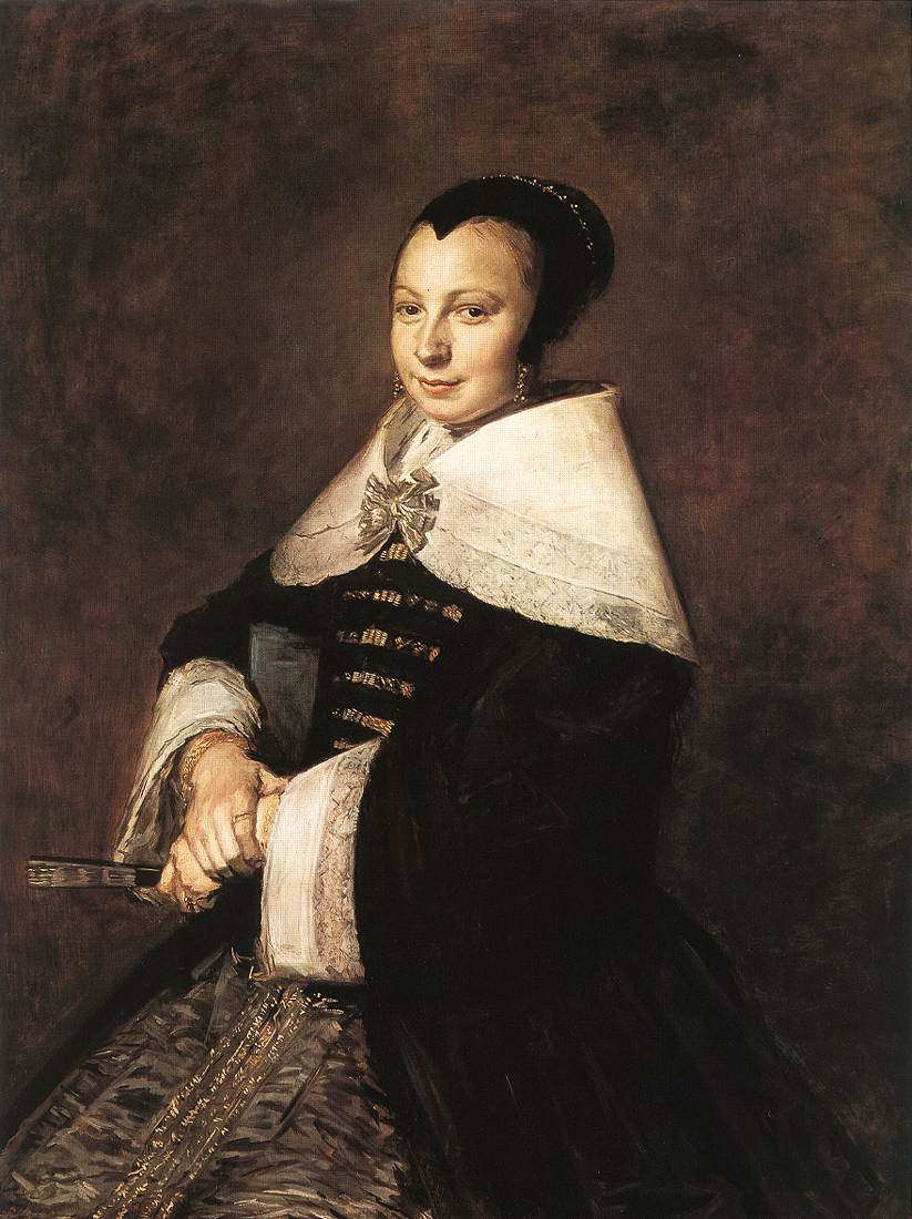 Portrait of a Seated Woman Holding a Fan