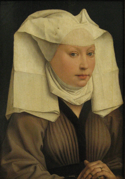 Portrait of a Young Woman in a Pinned Hat