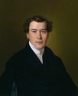 Portrait of a young gentleman in a blue coat
