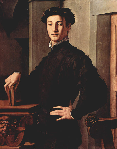 Portrait of a young man with book