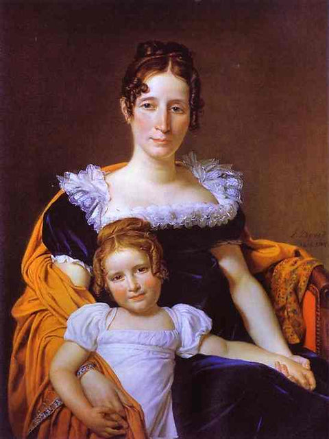 Portrait of the Countess Vilain XIIII and Her Daughter