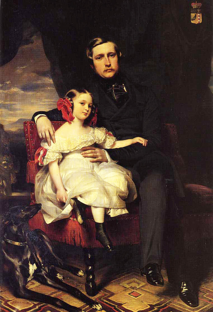 Portrait of the Prince de Wagram and his daughter Malcy Louise Caroline Frederique Napoléon Alexandre Berthier
