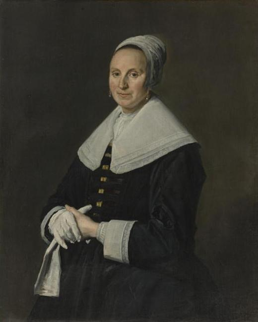 Portrait of woman with gloves