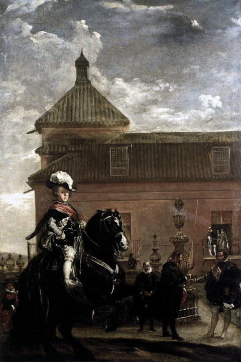 Prince Baltasar Carlos with the Count Duke of Olivares at the Royal Mews