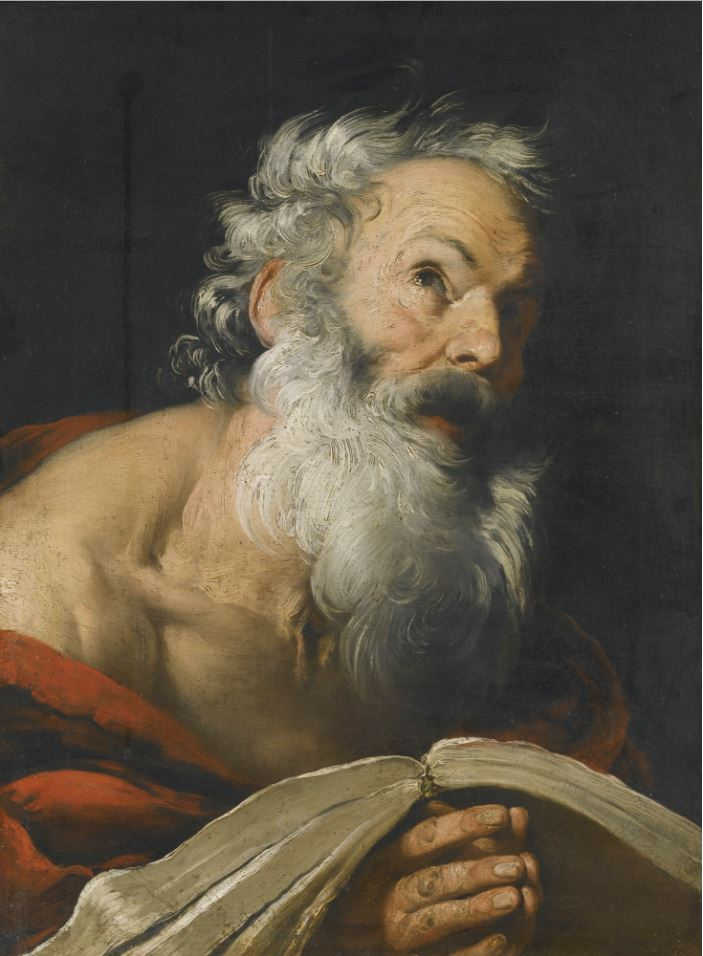 Saint Jerome Meditating over the Bible
