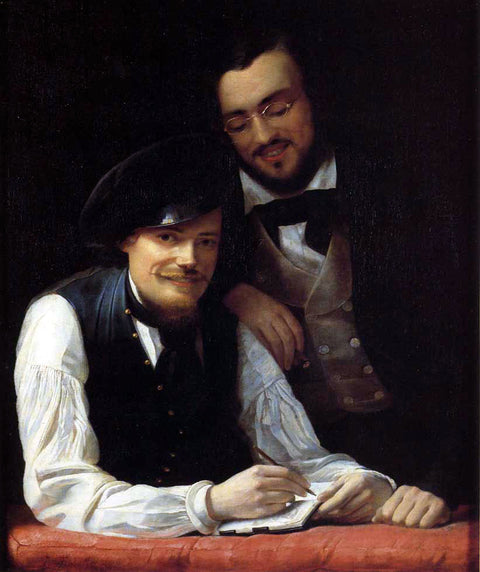 Self-Portrait of the Artist with his Brother, Hermann