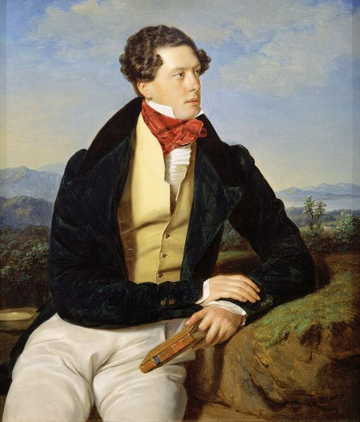 The Actor Maximillian Korn in a Landscape