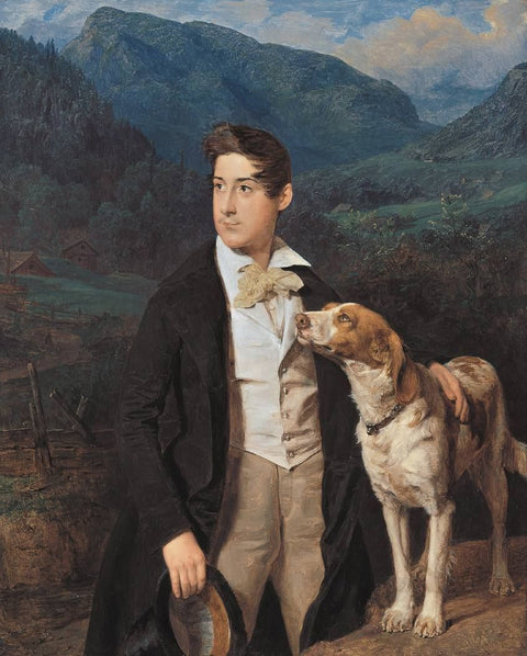 The Artist's Son Ferdinand with Dog
