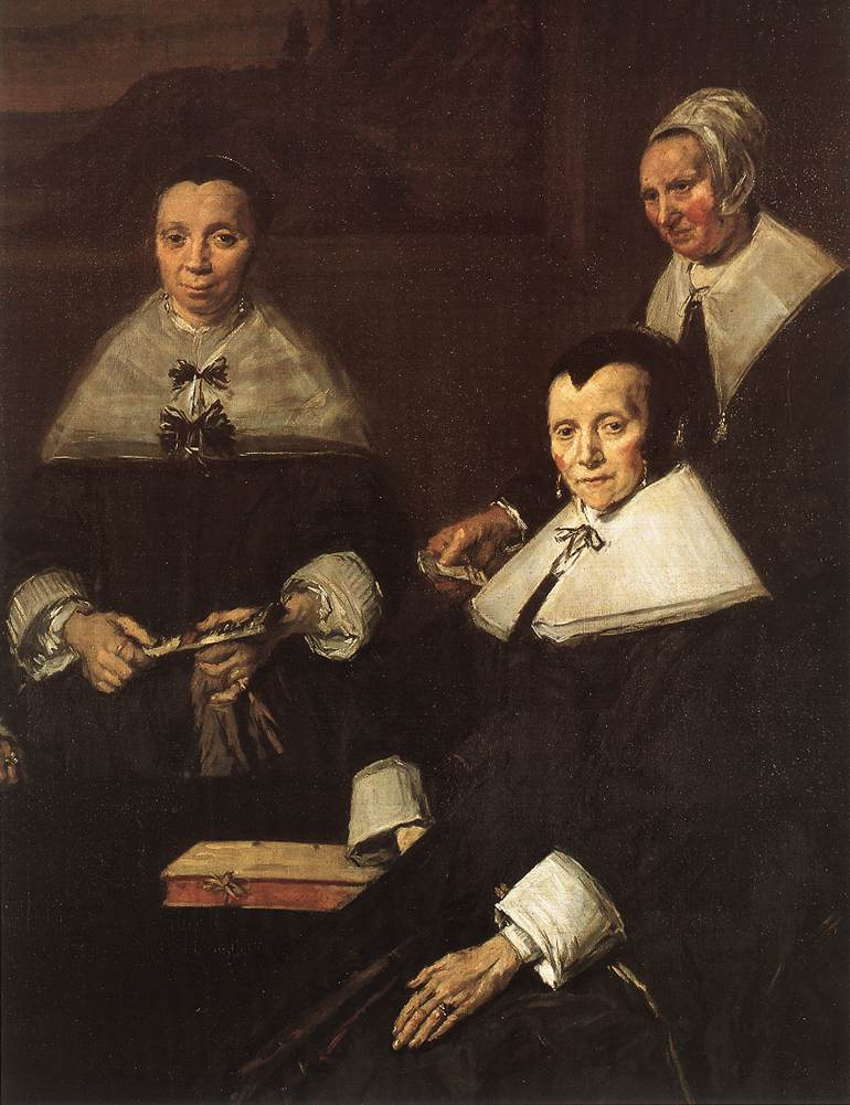 The Regentesses of the Old Men's Almhouse, Haarlem (detail)