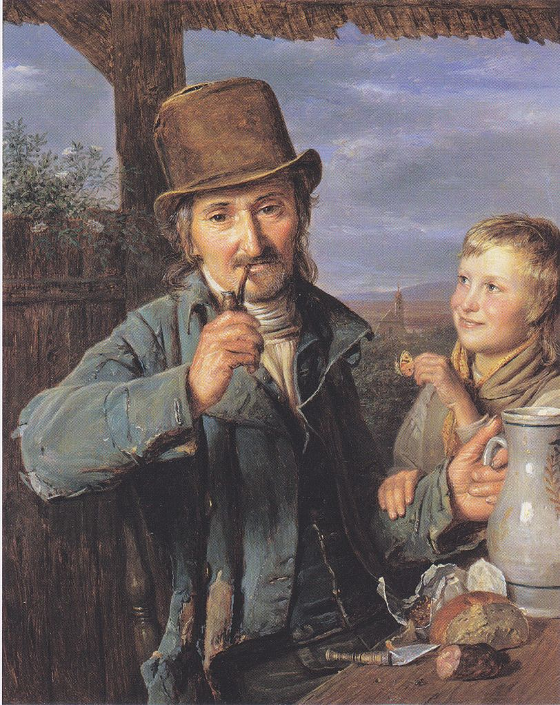 The day laborer with his son