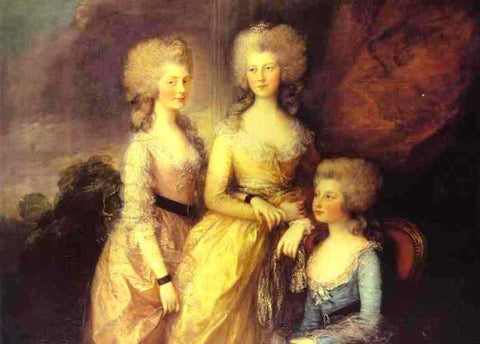 The three eldest daughters of George III: Princesses Charlotte, Augusta and Elizabeth