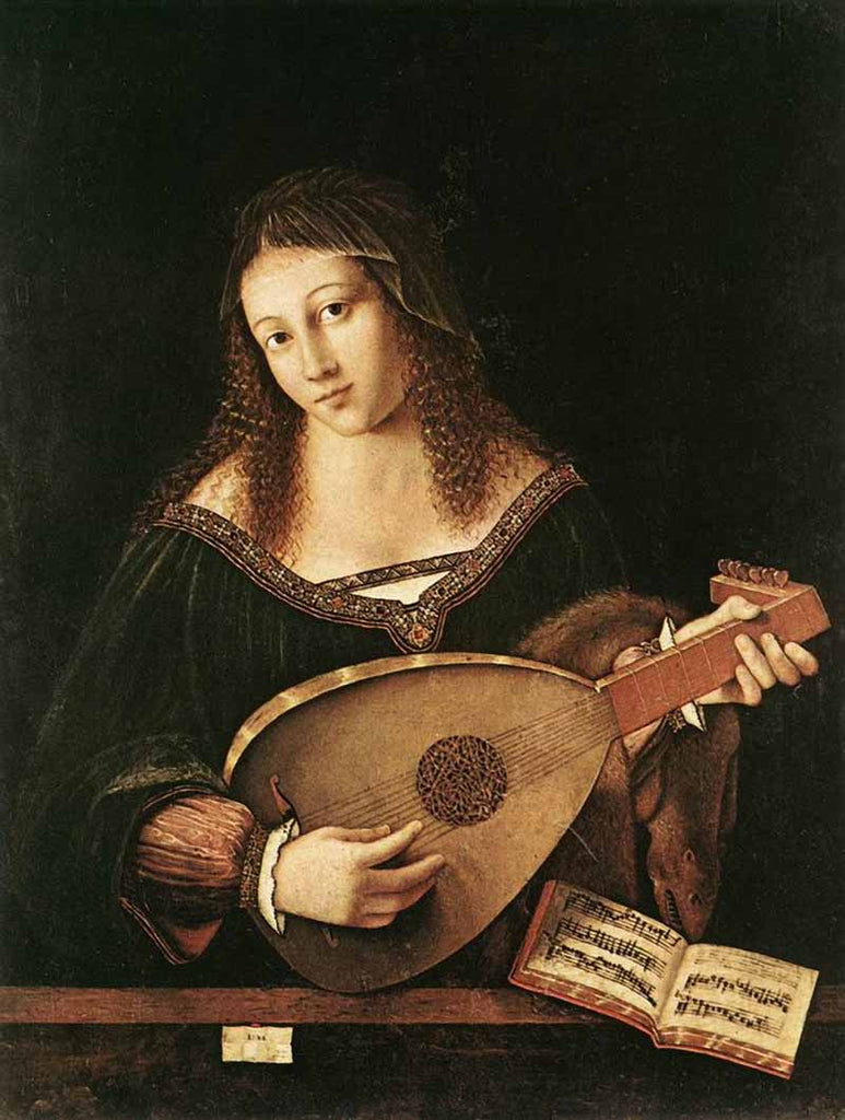 Woman Playing a Lute