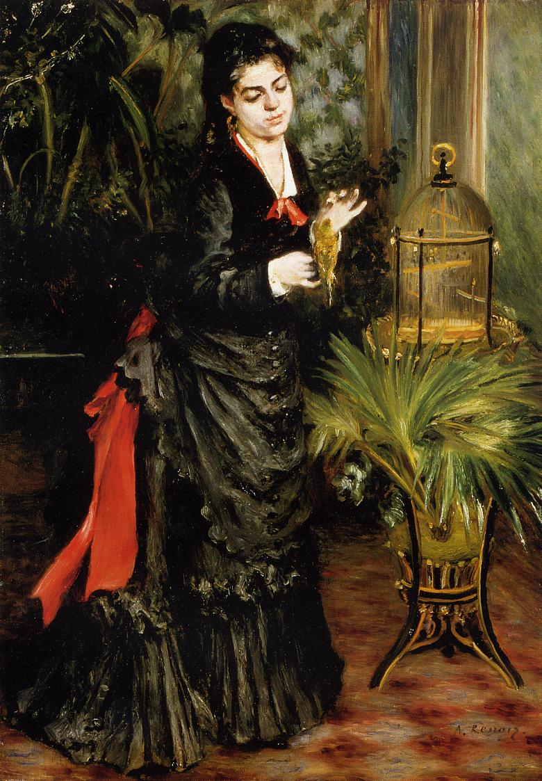 Woman with a Parrot (Henriette Darras)
