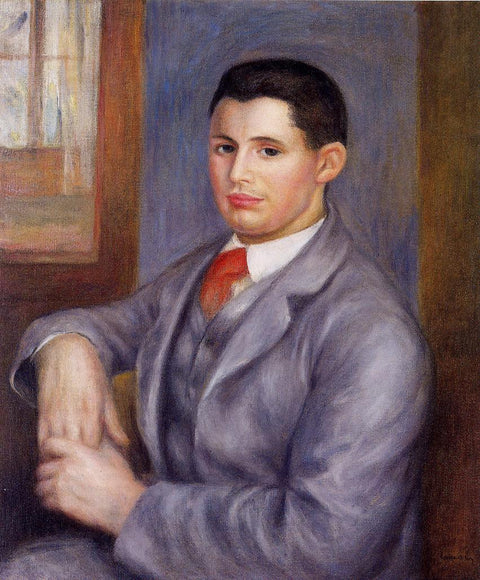 Young Man in a Red Tie, Portrait of Eugene Renoir