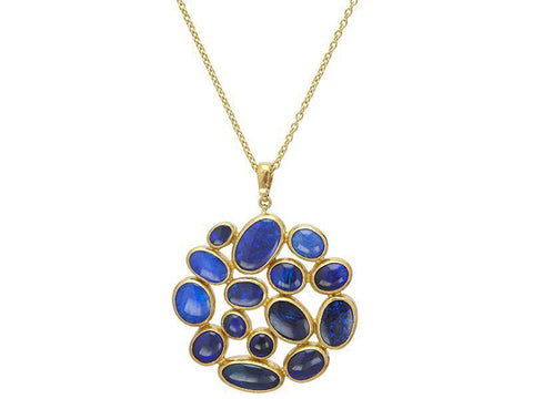 Gurhan Opal-Black Pointelle Cluster Necklace